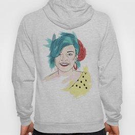 Blue haired girl Hoody