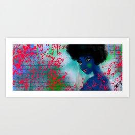 Street Blue Art Print