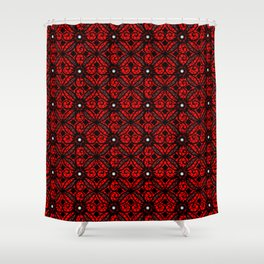 Red Gothic Shower Curtain