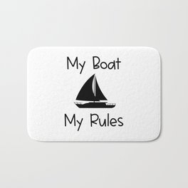 My Boat My Rules Lake and Ocean Travel Bath Mat
