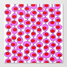 Retro Pattern 1 - White Canvas Print