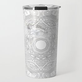 soft colored mandala pattern Travel Mug
