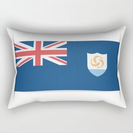 Flag of Anguilla. The slit in the paper with shadows. Rectangular Pillow