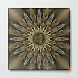 Waving 3D flower mandala Metal Print