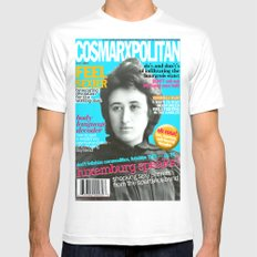 COSMARXPOLITAN, Issue 13 Mens Fitted Tee MEDIUM White