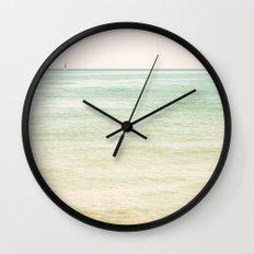 Nautical Red Sailboat Wall Clock