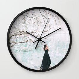 Wintery scene Wall Clock