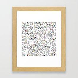 Hospital Pattern Framed Art Print