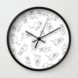 Quokka Buddies Wall Clock