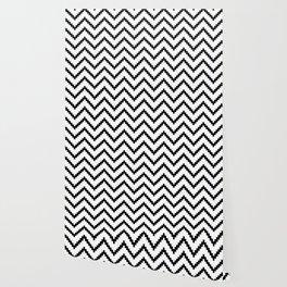 Tribal Chevron W&B Wallpaper