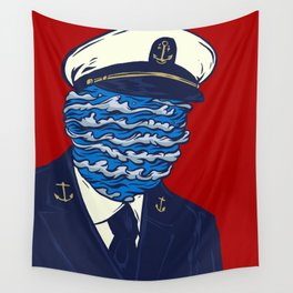 Captain of the Salty Waves Wall Tapestry