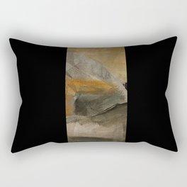 mountain in yellow sky Rectangular Pillow