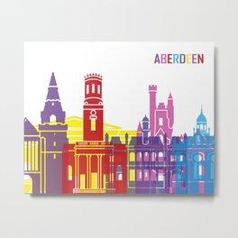 Aberdeen skyline pop Metal Print