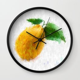 Big Lemon Wall Clock