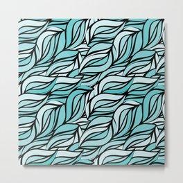 Blue texture Metal Print