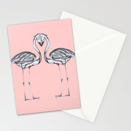 Monochrome  Flamingooooo Stationery Cards