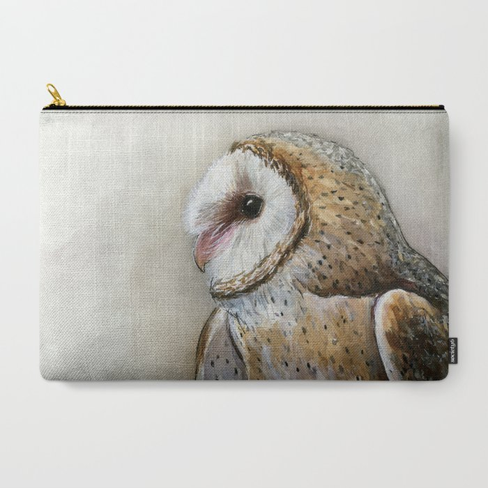 Barn_Owl_Watercolor_Birds_Of_Prey_Wild_Animals_Owls_CarryAll_Pouch_by_Olechka__Large_125_x_85