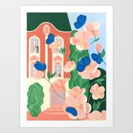 Le printemps en ville  Art Print