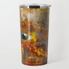 Desert Fire - Eye of Horus Travel Mug