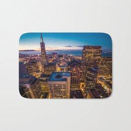 San Francisco Financial Disctrict Skyscrapers Bath Mat