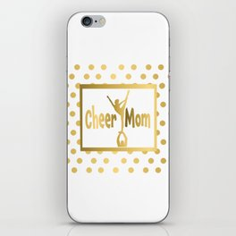 Cheer Mom Gold Dot Design iPhone Skin