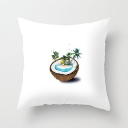 The illusion of the sea paradise Throw Pillow