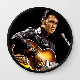 Elvis 1968 Comeback Special Advertising Print Wall Clock