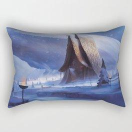 Viking House Rectangular Pillow