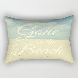 Gone To The Beach Rectangular Pillow