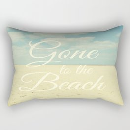 Gone To The Beach Rectangular Pillow