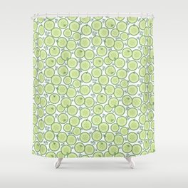 Cucumber Salad Pattern Shower Curtain