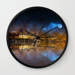 Dresden At Night Wall Clock