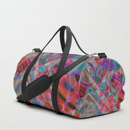 Colorful Abstract Stained Glass G297 Duffle Bag