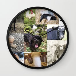 Lots of animals Wall Clock