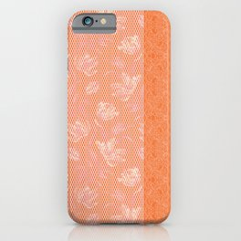 Laced orange iPhone Case