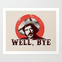 Curly Bill in Black Stencil  Art Print
