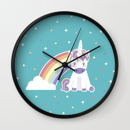 Kawaii Unicorn Wall Clock
