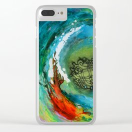 Maelstrom, captivating abstract painting Clear iPhone Case