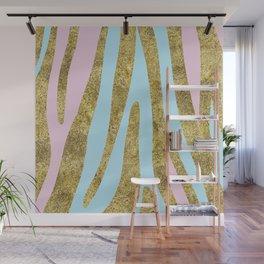 Golden exotics - bright pastels Wall Mural