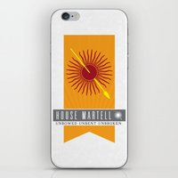 martell iPhone & iPod Skins featuring House Martell Sigil V2 by P3RF3KT