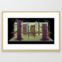 Ocarina of time: Links departure Diorama. Framed Art Print
