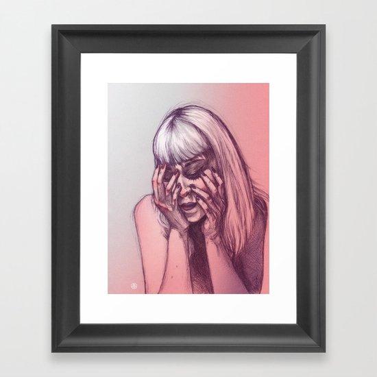 Thrown Rocks  Framed Art Print