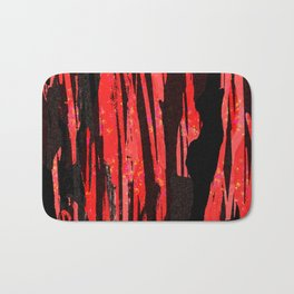Unique Abstract Scarlet and Black Design Bath Mat