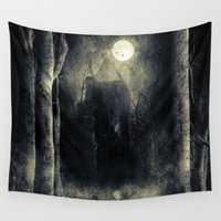thrones Wall Tapestries featuring Chapter VI by Viviana Gonzalez