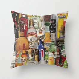 Beer Me Collage Throw Pillow