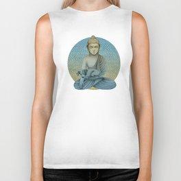 Buddha with dog4 Biker Tank