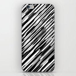 Diagonals mix gray iPhone Skin