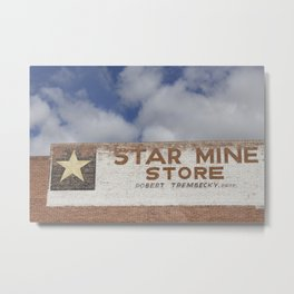 Star Mine Store Drumheller Metal Print