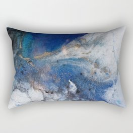 Abstract blue marble Rectangular Pillow