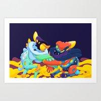 Moon & Stars Art Print